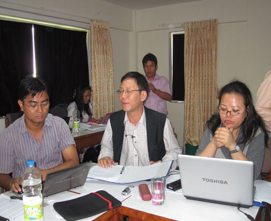 During their Presentation (Jhakendra Gharti magar and Shyamu Thapa, Chair by Hong Kong Rana)