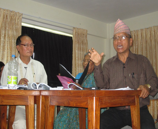 Lok Bdr Thapa Magar (During his Paper Presentation) Chair by K.B. Thapa (Custom)